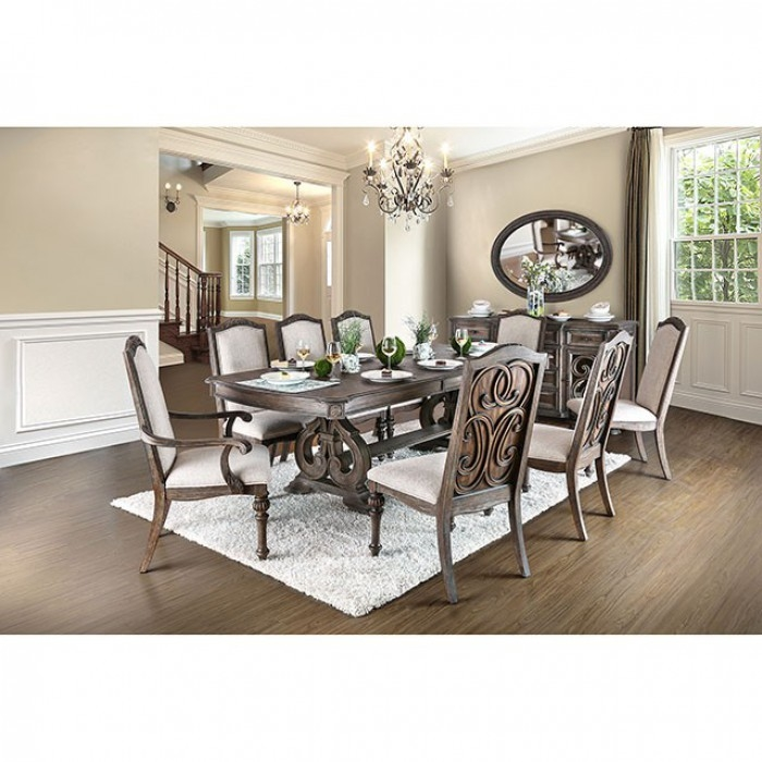arcadia 7 piece dining room setfurniture of america - foa-cm3150