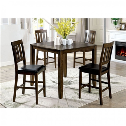 Chandler 5 Piece Counter Height Dining Set by Furniture of America - FOA-CM3173PT-5PK