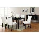 Lamia I 7 Piece Dining Room Set by Furniture of America - FOA-CM3176BK-T