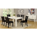 Lamia I 7 Piece Dining Room Set by Furniture of America - FOA-CM3176WH-T