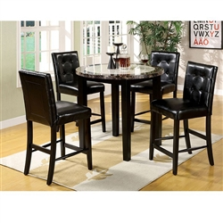 Atlas IV 5 Piece Counter Height Dining Set by Furniture of America - FOA-CM3188PT-40