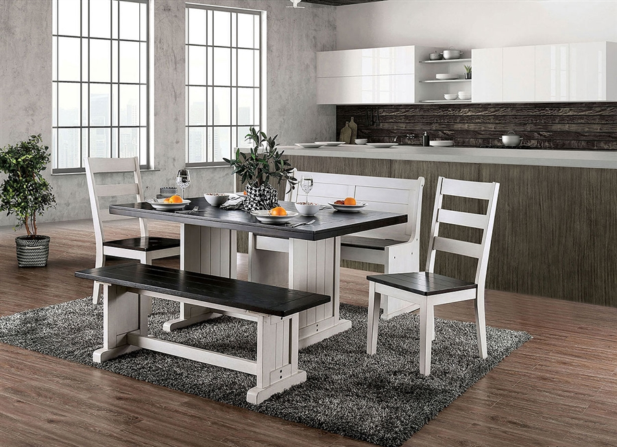 Nekoma 7 Piece Dining Room Set in Espresso/White Finish by Furniture of  America - FOA-CM3195
