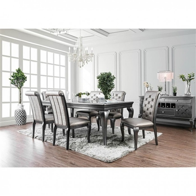 Amina 7 Piece Dining Table Set by Furniture of America - FOA-CM3219GY-T