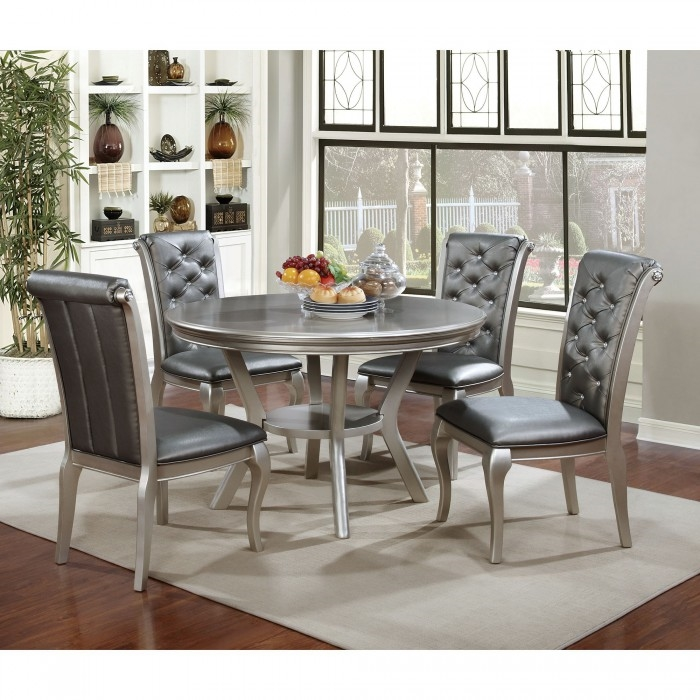 Amina 5 Piece Round Table Dining Room Set By Furniture Of