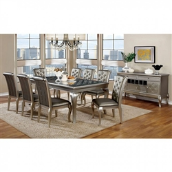 "Amina 7 Piece 84"" Dining Room Set by Furniture of America - FOA-CM3219T"
