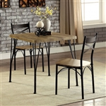 Banbury 3 Piece Dining Room Set in Gray & Dark Bronze Finish by Furniture of America - FOA-CM3279T-29-3PK