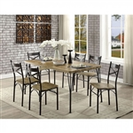Banbury 7 Piece Dining Room Set in Gray & Dark Bronze Finish by Furniture of America - FOA-CM3279T-60-7PK