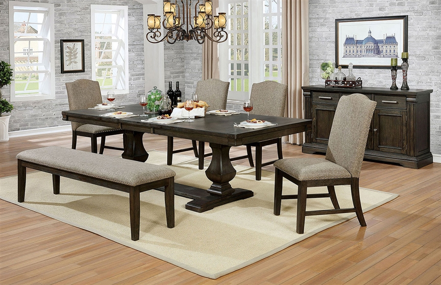 Faulk 7 Piece Dining Room Set in Espresso Finish by Furniture of America -  FOA-CM3310