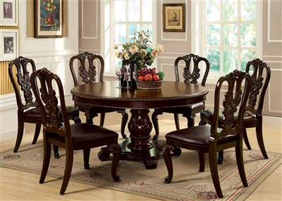 Bellagio 5 Piece Round Dining Table Set by Furniture of America - FOA-CM3319RT