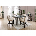 Sania III 5 Piece Counter Height Dining Set by Furniture of America - FOA-CM3324BK-PT-54