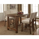 Sania 5 Piece Counter Height Dining Set by Furniture of America - FOA-CM3324PT