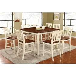 Dover II 7 Piece Counter Height Dining Set by Furniture of America - FOA-CM3326WC-PT