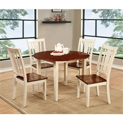 Dover 5 Piece Round Table Dining Room Set by Furniture of America - FOA-CM3326WC-RT