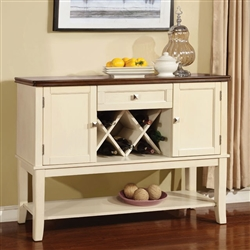 Dover Server by Furniture of America - FOA-CM3326WC-SV