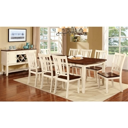Dover 7 Piece Dining Room Set by Furniture of America - FOA-CM3326WC-T