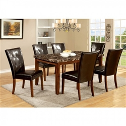 Elmore 7 Piece Dining Room Set by Furniture of America - FOA-CM3328T
