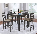 Gloria 5 Piece Counter Height Dining Set by Furniture of America - FOA-CM3331GY-PT-5PK