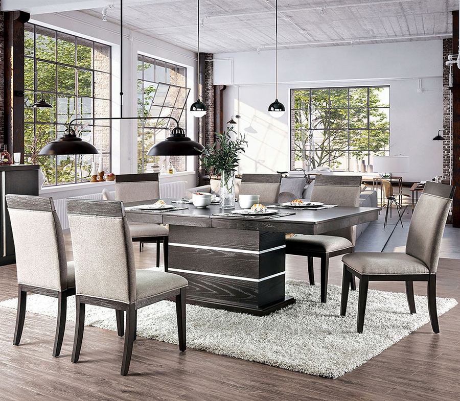 Modoc 7 Piece Dining Room Set in Espresso Finish by Furniture of America -  FOA-CM3337
