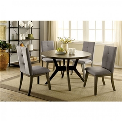 Abelone 5 Piece Round Table Dining Room Set by Furniture of America - FOA-CM3354GY-RT