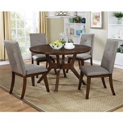 Abelone 5 Piece Round Table Dining Room Set by Furniture of America - FOA-CM3354RT