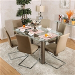 Walkerville I 7 Piece Dining Room Set by Furniture of America - FOA-CM3361T