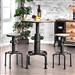 Foskey 3 Piece Bar Table Dining Set by Furniture of America - FOA-CM3367BT