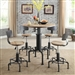 Fran 3 Piece Bar Table Dining Set by Furniture of America - FOA-CM3373BT