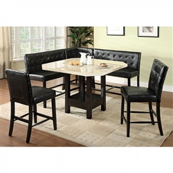 Bahamas 6 Piece Counter Height Dining Set by Furniture of America - FOA-CM3427PT