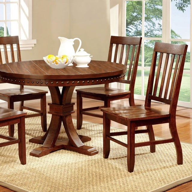 Foster I 5 Piece Round Table Dining Room Set By Furniture Of America Foa Cm3437rt