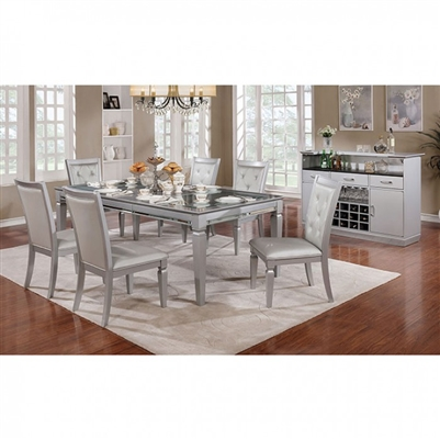 Alena 7 Piece Dining Table Set by Furniture of America - FOA-CM3452T