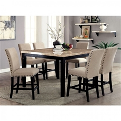 Dodson I 7 Piece Dining Room Set by Furniture of America - FOA-CM3466T