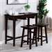 Elinor 3 Piece Bar Table Dining Set in Espresso Finish by Furniture of America - FOA-CM3475EX-PT-3PK