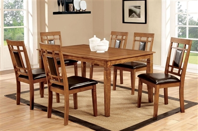Freeman I 7 Piece Dining Room Set in Light Oak Finish by Furniture of America - FOA-CM3502T