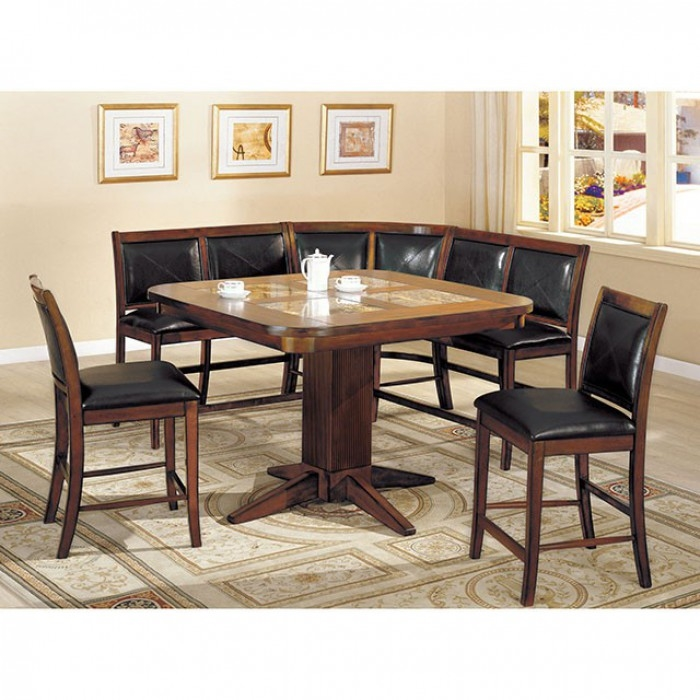 Living Stone II 6 Piece Counter Height Dining Set By Furniture Of America    FOA CM3568PT