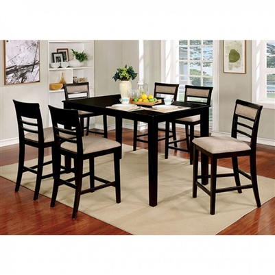 Fafnir 5 Piece Counter Height Dining Set by Furniture of America - FOA-CM3607EX-PT-5PK