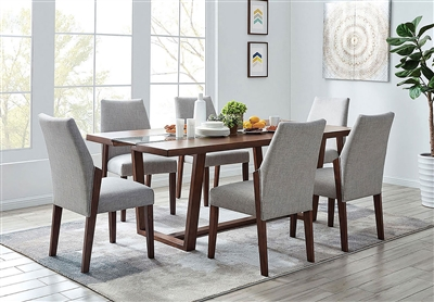 Brighid 7 Piece Dining Room Set in Dark Oak Finish by Furniture of America - FOA-CM3722