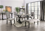 Alfred 7 Piece Dining Room Set with Light Gray Chairs by Furniture of America - FOA-CM3735-CM3735LG