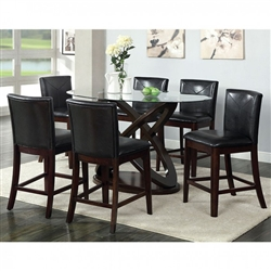Atenna II 7 Piece Counter Height Dining Set by Furniture of America - FOA-CM3774PT
