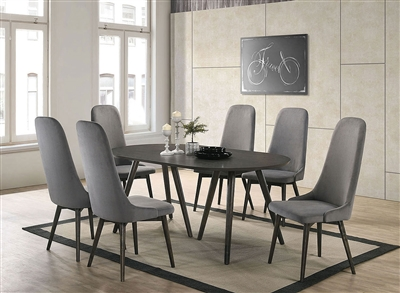 Aniya I 7 Piece Dining Room Set in Dark Gray Finish by Furniture of America - FOA-CM3781
