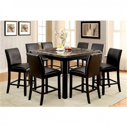 Gladstone II 7 Piece Counter Height Dining Set by Furniture of America - FOA-CM3823BK-PT
