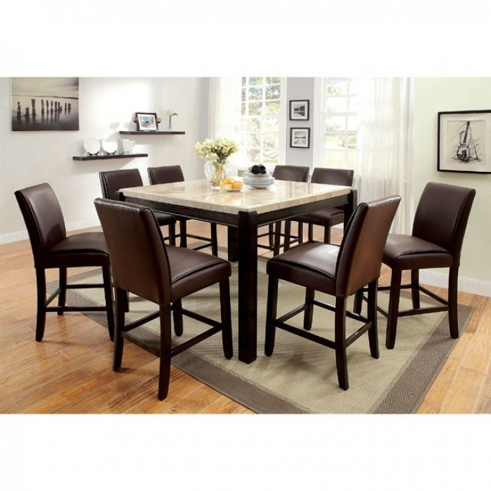 Gladstone II 7 Piece Counter Height Dining Set By Furniture Of America    FOA CM3823PT