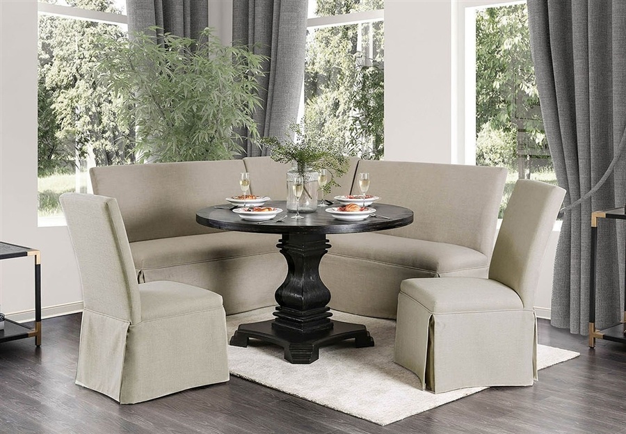 Nerissa 6 Piece Round Dining Room Set by Furniture of America -  FOA-CM3840RT-6PC