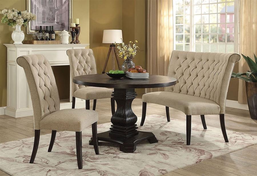 Nerissa 4 Piece Round Dining Room Set, Round Dining Room Table Sets