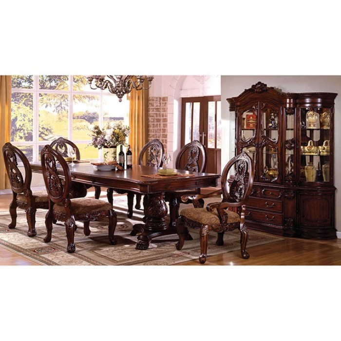 Tuscany I 7 Piece Formal Dining Room Set by Furniture of America -  FOA-CM3845P-CH