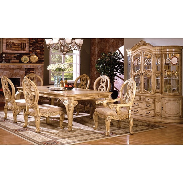 Tuscany II 7 Piece Formal Dining Room Set by Furniture of America -  FOA-CM3845WH