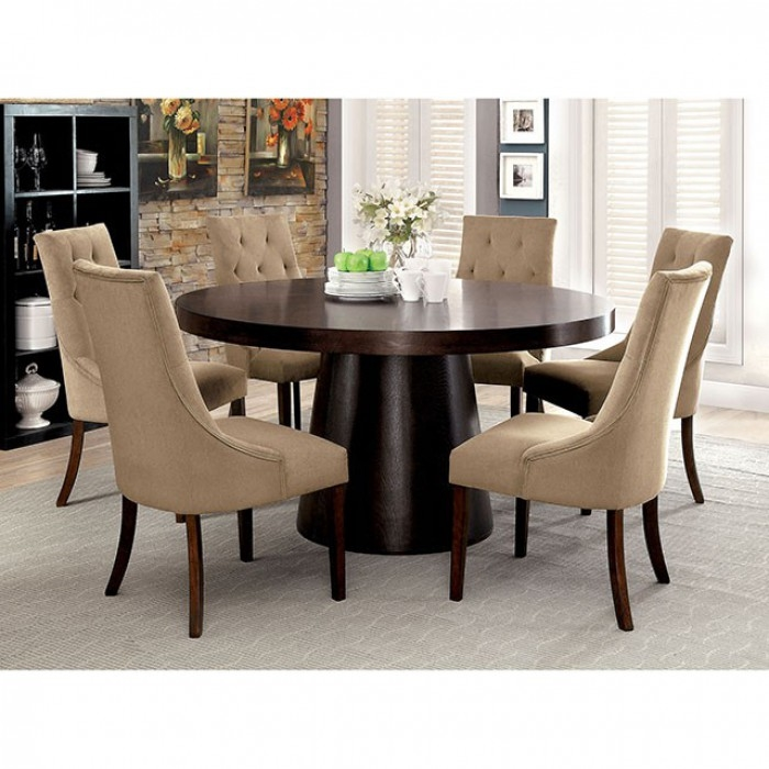 7 Piece Round Table Dining Room Set