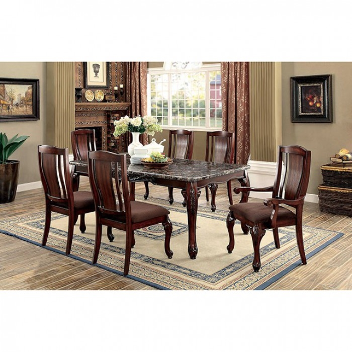 Johannesburg i 7 piece dining room set by furniture of for Dining room tables johannesburg