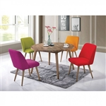 Fezziwig 5 Piece Round Table Dining Room Set by Furniture of America - FOA-CM3877T