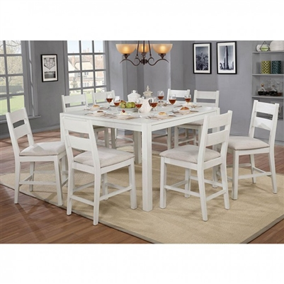 Glenfield 7 Piece Counter Height Dining Set by Furniture of America - FOA-CM3882PT