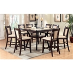 Brent II 7 Piece Counter Height Dining Set by Furniture of America - FOA-CM3984W-PT